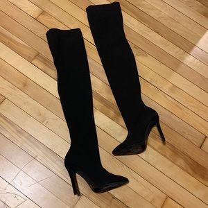 Thigh High Sock Boot Stilettos